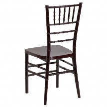 Flash Furniture LE-MAHOGANY-GG Flash Elegance Mahogany Resin Stacking Chiavari Chair addl-1