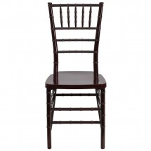 Flash Furniture LE-MAHOGANY-GG Flash Elegance Mahogany Resin Stacking Chiavari Chair addl-2