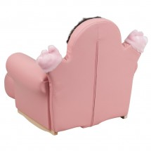 Flash Furniture HR-27-GG Kids Pink Little Girl Rocker Chair and Footrest addl-1