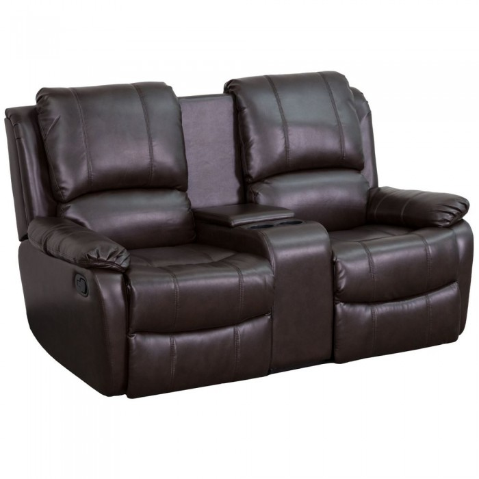 Pictures On 2 Reclining Seats And Console Leather Couch