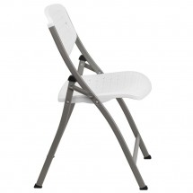 Flash Furniture DAD-YCD-59-GG Hercules Series White Designer Comfort Molded Folding Chair addl-4