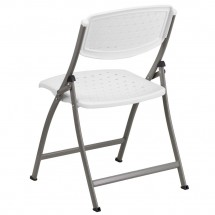 Flash Furniture DAD-YCD-59-GG Hercules Series White Designer Comfort Molded Folding Chair addl-1