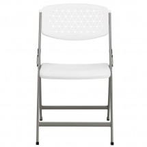 Flash Furniture DAD-YCD-59-GG Hercules Series White Designer Comfort Molded Folding Chair addl-2