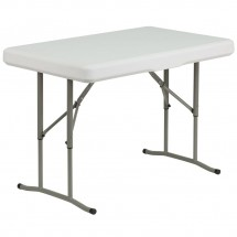 Flash Furniture DAD-YCZ-103-GG Plastic Folding Table and Benches addl-2