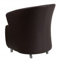 Flash Furniture ZB-2-GG Dark Brown Leather Reception Chair addl-1