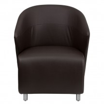Flash Furniture ZB-2-GG Dark Brown Leather Reception Chair addl-2