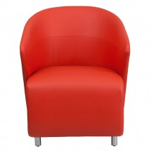 Flash Furniture ZB-6-GG Red Leather Reception Chair addl-2