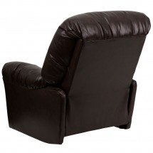 Flash Furniture AM-C9350-9075-GG Contemporary Bentley Brown Leather Chaise Rocker Recliner addl-1