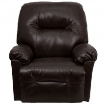 Flash Furniture AM-C9350-9075-GG Contemporary Bentley Brown Leather Chaise Rocker Recliner addl-2