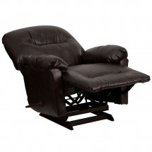 Flash Furniture AM-C9350-9075-GG Contemporary Bentley Brown Leather Chaise Rocker Recliner addl-6