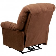 Flash Furniture AM-CP9350-2550-GG Contemporary Calcutta Chocolate Microfiber Power Chaise Recliner addl-1