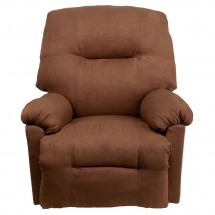 Flash Furniture AM-CP9350-2550-GG Contemporary Calcutta Chocolate Microfiber Power Chaise Recliner addl-2