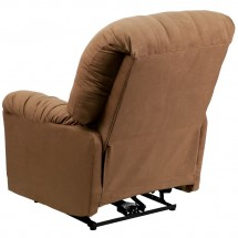Flash Furniture AM-CP9350-2600-GG Contemporary Calcutta Camel Microfiber Power Chaise Recliner addl-1