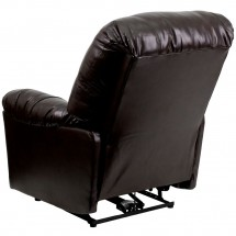 Flash Furniture AM-CP9350-9075-GG Contemporary Bentley Brown Leather Chaise Power Recliner addl-1