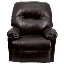 Flash Furniture AM-CP9350-9075-GG Contemporary Bentley Brown Leather Chaise Power Recliner addl-2