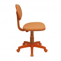 Flash Furniture BT-698-ORANGE-GG Orange Fabric Ergonomic Task Chair addl-1