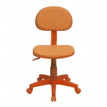 Flash Furniture BT-698-ORANGE-GG Orange Fabric Ergonomic Task Chair addl-3