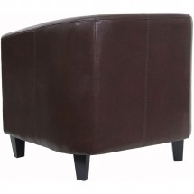 Flash Furniture BT-873-BN-GG Brown Leather Office Guest / Reception Chair addl-1