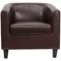 Flash Furniture BT-873-BN-GG Brown Leather Office Guest / Reception Chair addl-2