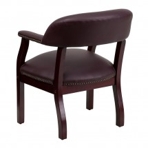 Flash Furniture B-Z105-LF19-LEA-GG Burgundy Leather Conference Chair addl-1