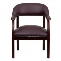 Flash Furniture B-Z105-LF19-LEA-GG Burgundy Leather Conference Chair addl-2