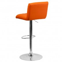 Flash Furniture CH-112010-ORG-GG Contemporary Orange Vinyl Adjustable Height Bar Stool addl-1