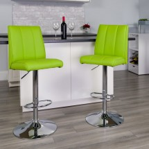 Flash Furniture CH-122090-GRN-GG Contemporary Green Vinyl Adjustable Height Bar Stool addl-3