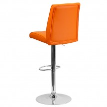 Flash Furniture CH-122090-ORG-GG Contemporary Orange Vinyl Adjustable Height Bar Stool addl-1