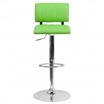 Flash Furniture CH-122150-GRN-GG Contemporary Two Tone Green and White Vinyl Adjustable Height Bar Stool addl-2