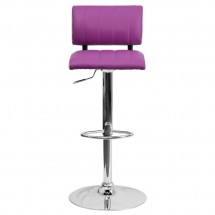 Flash Furniture CH-122150-PUR-GG Contemporary Two Tone Purple and White Vinyl Adjustable Height Bar Stool addl-2