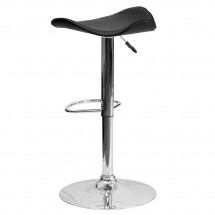 Flash Furniture CH-TC3-1002-BK-GG Contemporary Black Vinyl Adjustable Height Bar Stool addl-1