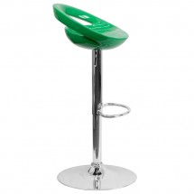 Flash Furniture CH-TC3-1062-GN-GG Contemporary Green Plastic Adjustable Height Bar Stool addl-4