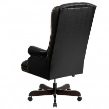 Flash Furniture CI-360-BK-GG Black High Back Traditional Tufted Leather Executive Office Chair addl-1