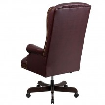 Flash Furniture CI-360-BY-GG Burgundy High Back Traditional Tufted Leather Executive Office Chair addl-1