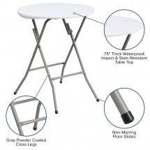 Flash Furniture DAD-YCZ-80R-1-SM-GW-GG Round Granite White Plastic Folding Table 24 addl-2