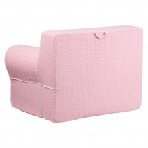Flash Furniture DG-LGE-CH-KID-DOT-PK-GG Oversized Light Pink Dot Kids Chair with White Piping addl-2