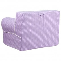 Flash Furniture DG-LGE-CH-KID-DOT-PUR-GG Oversized Lavender Dot Kids Chair with White Piping addl-2
