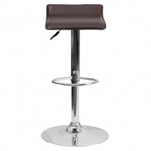 Flash Furniture DS-801-CONT-BRN-GG Contemporary Brown Vinyl Adjustable Height Bar Stool addl-2