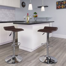 Flash Furniture DS-801-CONT-BRN-GG Contemporary Brown Vinyl Adjustable Height Bar Stool addl-3