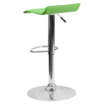 Flash Furniture DS-801-CONT-GRN-GG Contemporary Green Vinyl Adjustable Height Bar Stool addl-1