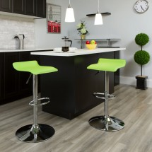 Flash Furniture DS-801-CONT-GRN-GG Contemporary Green Vinyl Adjustable Height Bar Stool addl-3