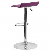 Flash Furniture DS-801-CONT-PUR-GG Contemporary Purple Vinyl Adjustable Height Bar Stool addl-1
