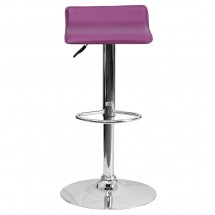 Flash Furniture DS-801-CONT-PUR-GG Contemporary Purple Vinyl Adjustable Height Bar Stool addl-2