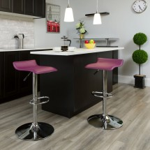 Flash Furniture DS-801-CONT-PUR-GG Contemporary Purple Vinyl Adjustable Height Bar Stool addl-3