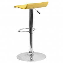 Flash Furniture DS-801-CONT-YEL-GG Contemporary Yellow Vinyl Adjustable Height Bar Stool addl-1