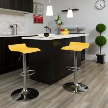 Flash Furniture DS-801-CONT-YEL-GG Contemporary Yellow Vinyl Adjustable Height Bar Stool addl-3