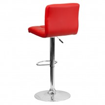Flash Furniture DS-810-MOD-RED-GG Contemporary Red Quilted Vinyl Adjustable Height Bar Stool addl-1