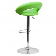 Flash Furniture DS-811-GRN-GG Contemporary Green Vinyl Rounded Back Adjustable Height Bar Stool addl-1