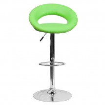 Flash Furniture DS-811-GRN-GG Contemporary Green Vinyl Rounded Back Adjustable Height Bar Stool addl-2