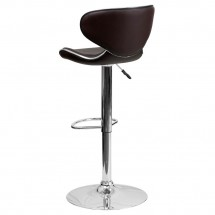 Flash Furniture DS-815-BRN-GG Contemporary Cozy Mid-Back Brown Vinyl Adjustable Height Bar Stool addl-1